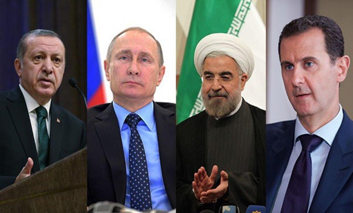 أردوغان وبوتين وبشار الأسد وخامنئي