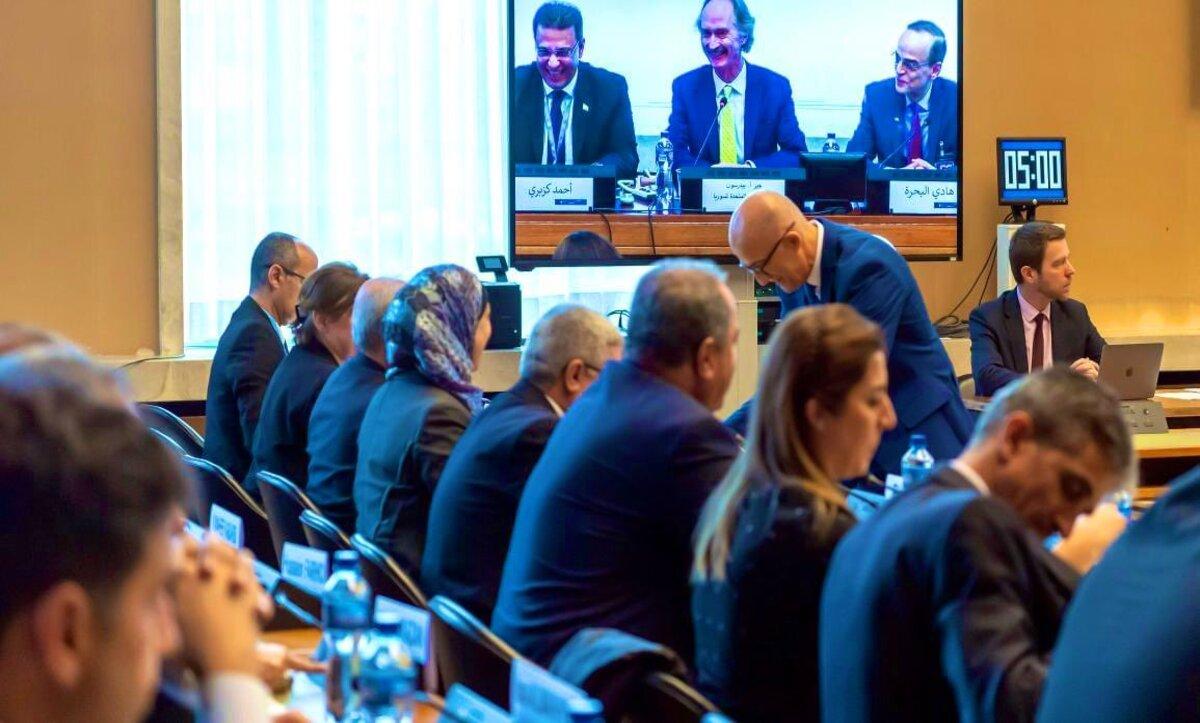 اجتماع اللجنة الدستورية السورية - تويتر