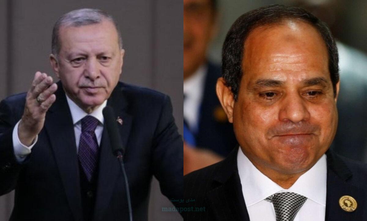 الرئيس التركي رجب طيب أردوغان والسيسي - مدى بوست