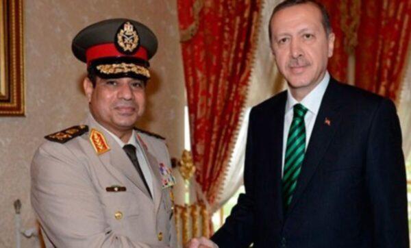الرئيس التركي رجب طيب أردوغان والسيسي - وسائل إعلام تركية