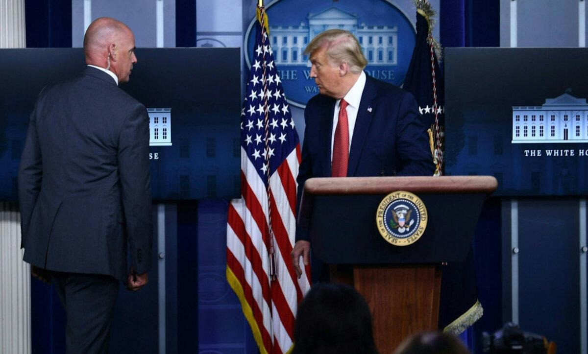 دونالد ترامب اليوم في البيت الأبيض - وكالات