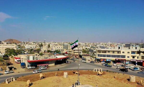 راية الثورة السورية في إعزاز - ريف حلب