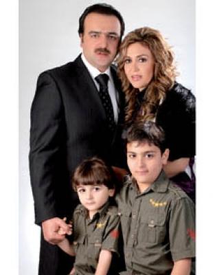 سامر المصري وزوجته وأولاده