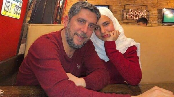 محمد قنوع وابنته