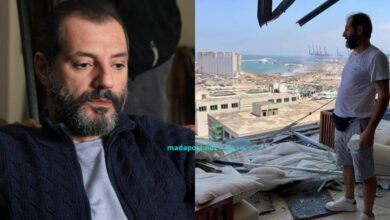 """Photo of عادل كرم على أطلال منزله حزينًا: """"يا ضيعان العمر"""" (صور)"""