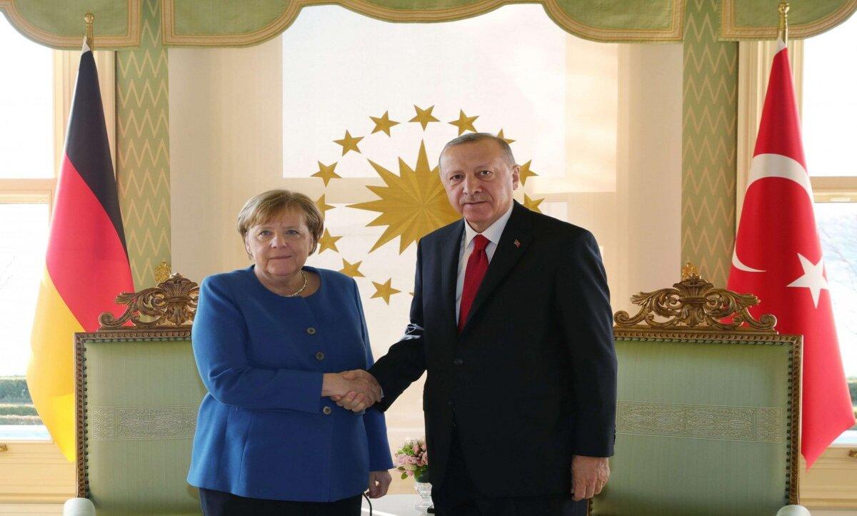 أردوغان وميركل- وكالات