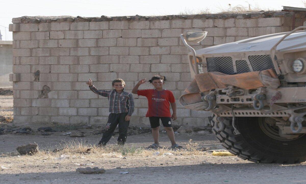 أطفال سوريون في الحسكة - تويتر