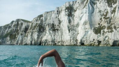 Photo of شرطي يتتبع مطلوباً بالسباحة وراءه في البحر ونهاية غير متوقعة (فيديو)