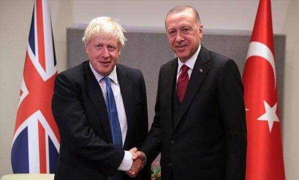 بوريس جونسون وأردوغان - وكالات