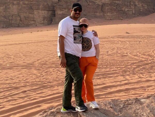 ديانا كرزون مع زوجها