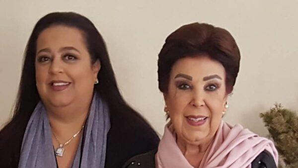 رجاء الجداوي مع ابنتها أميرة
