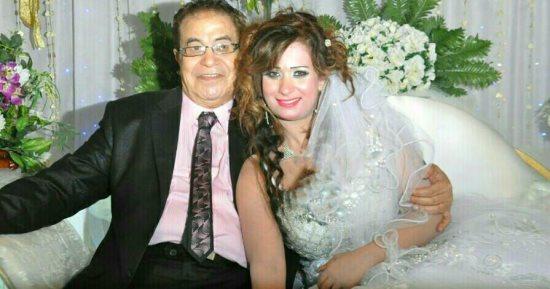 سعيد طرابيك مع زوجته