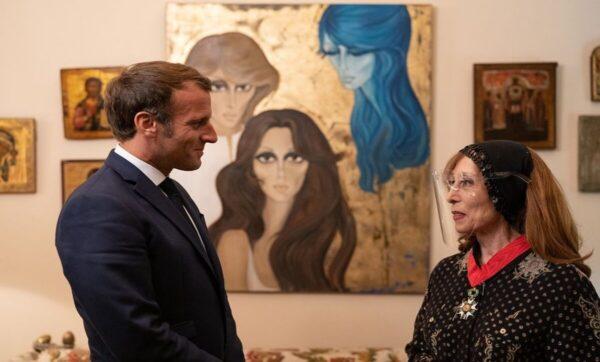 فيروز في أحدث إطلالة لها مع ماكرون - مصور الرئيس الفرنسي