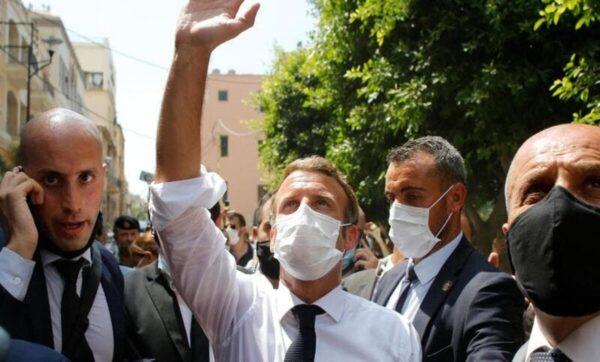 ماكرون في بيروت - مواقع التواصل