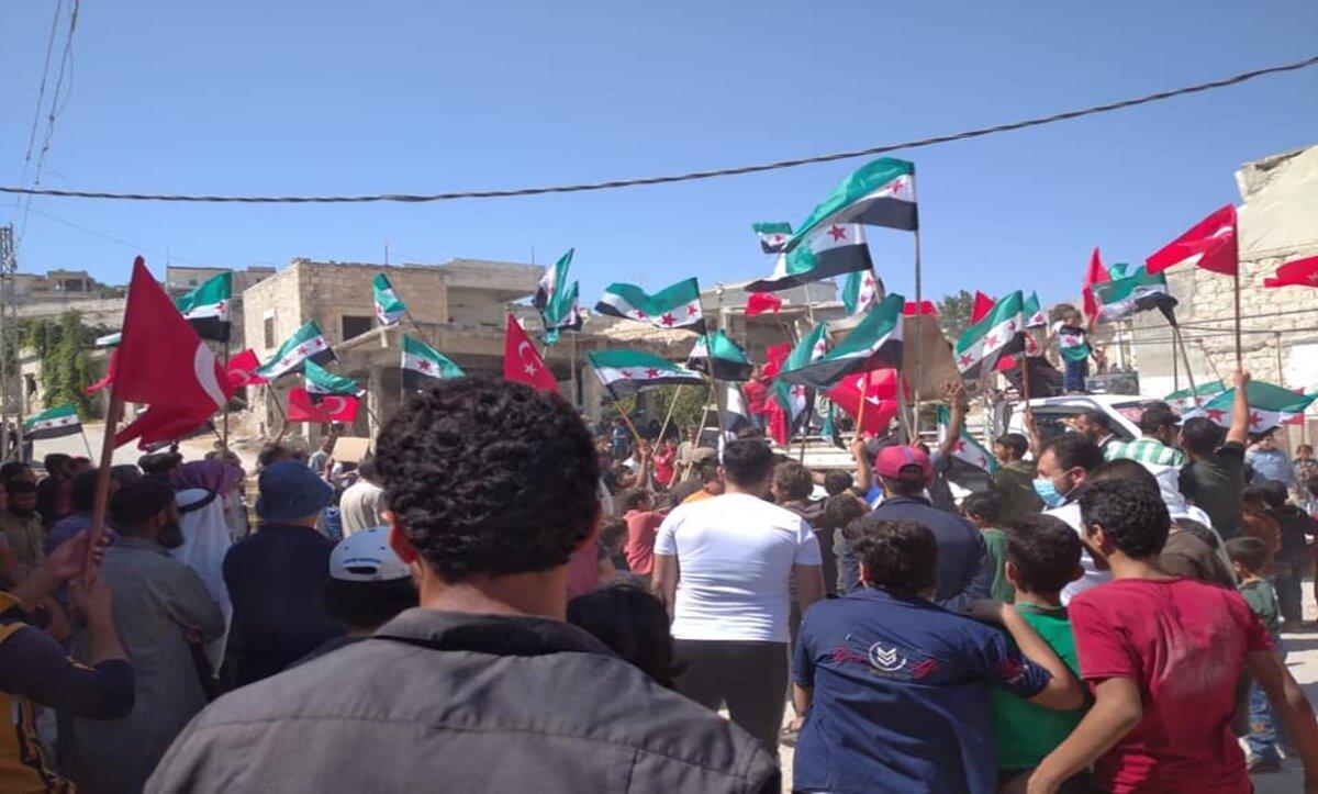 مظاهرات في الشمال السوري - مواقع التواصل