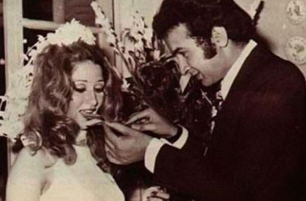 نور الشريف وزوجته بوسي