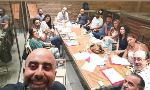 هشام حداد يكشف الصورة الأولى لكادر مسلسل نسونجي بالحلال - مواقع التواصل