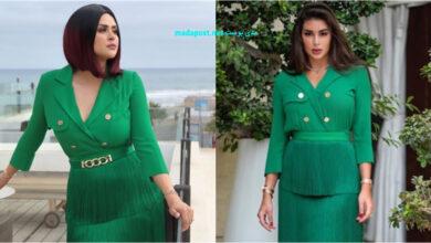 Photo of ياسمين صبري تُقلّد إطلالة سلمى رشيد بالفستان الأخضر