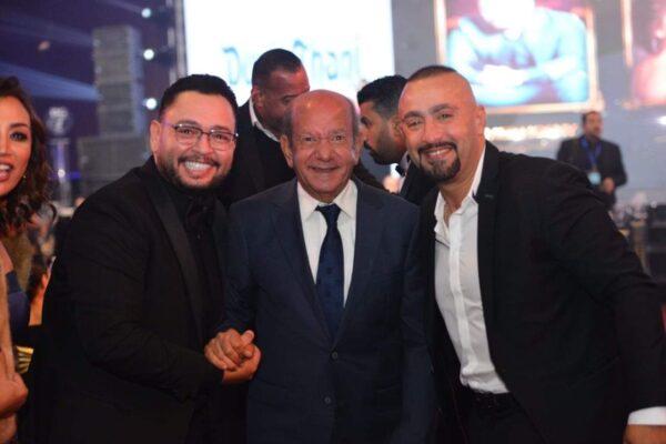 أحمد رزق مع أحمد السقا ولطفي لبيب