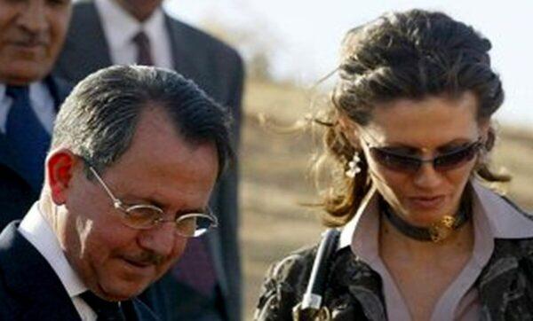 أسماء الأسد ووالدها - مواقع التواصل