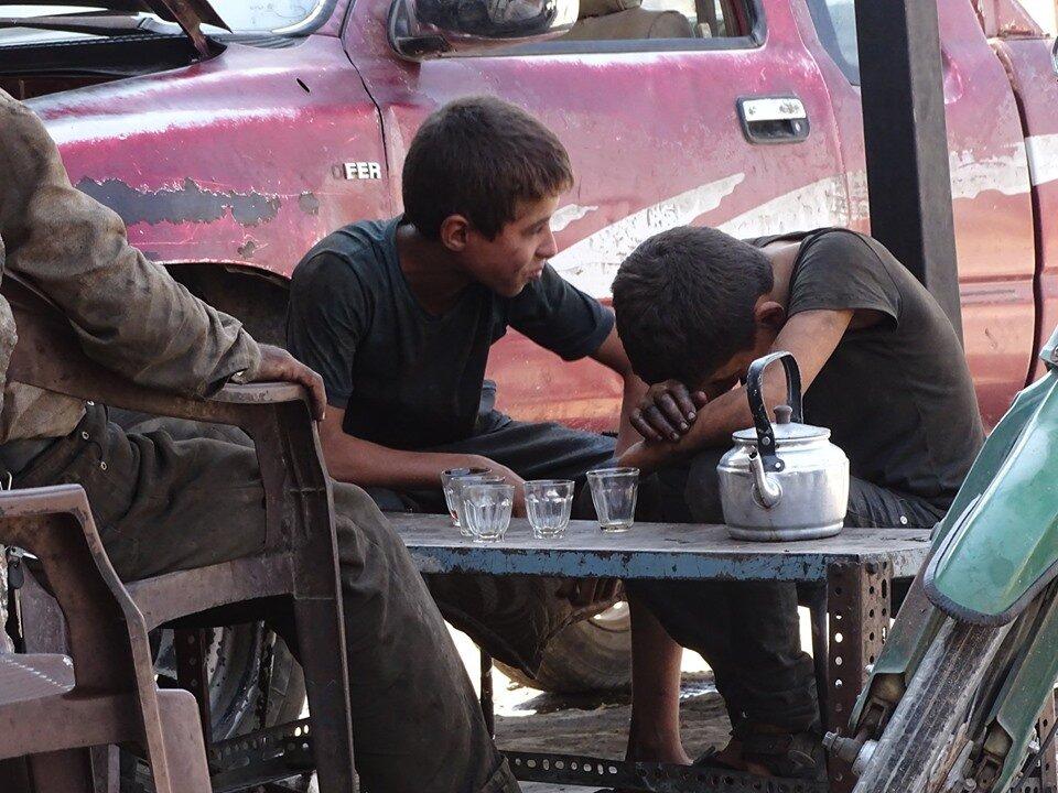 النازحون في الشمال السوري - مواقع التواصل
