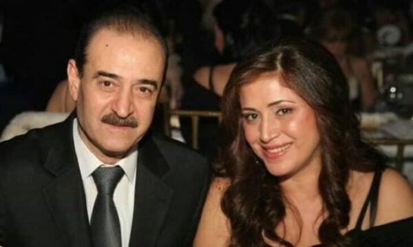 بسام كوسا مع زوجته