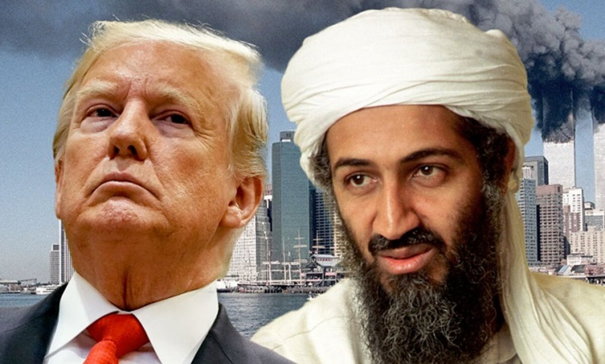ترامب وبن لادن - مواقع التواصل
