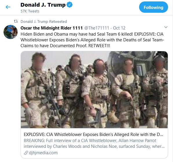 ترامب وتغريدة حول بن لادن - تويتر