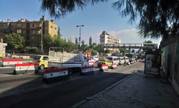 دمشق قرب فرع فلسطين - مواقع التواصل