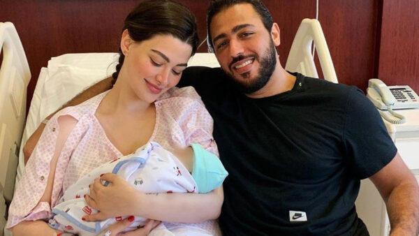 روان بن حسين مع زوجها السابق