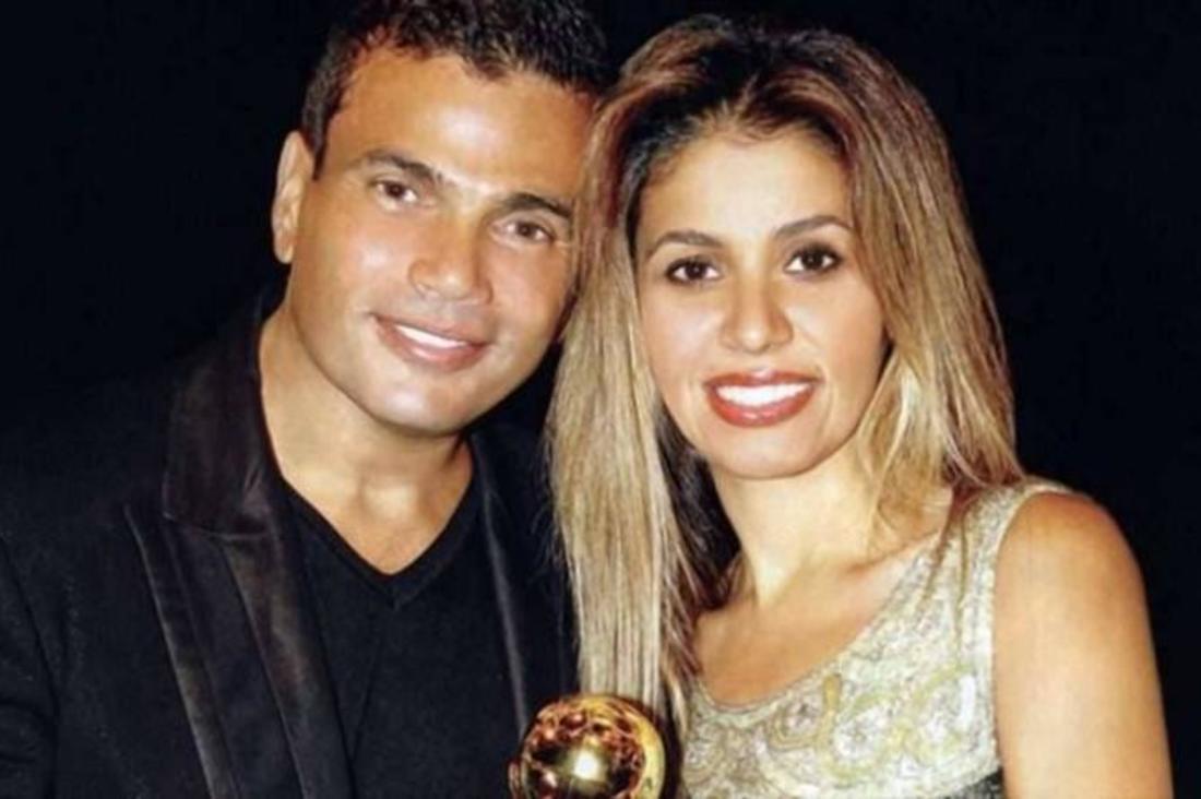 زينة عاشور مع عمرو دياب