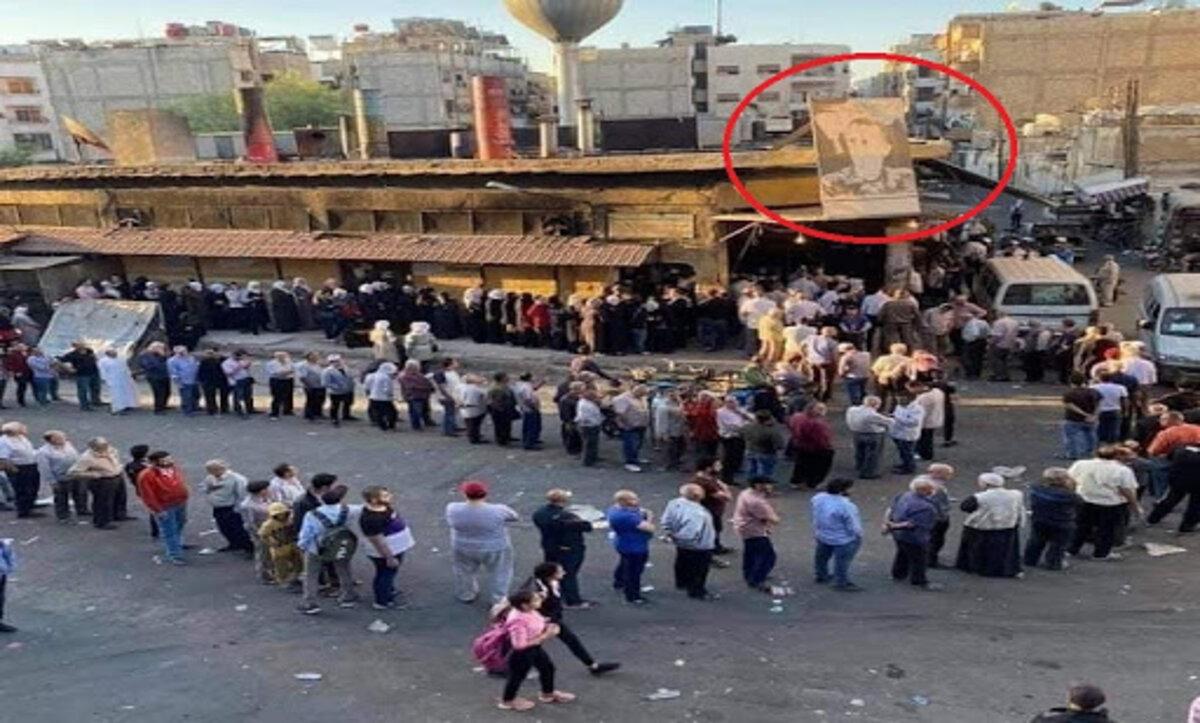 طوابير الخبز دمشق - مواقع التواصل