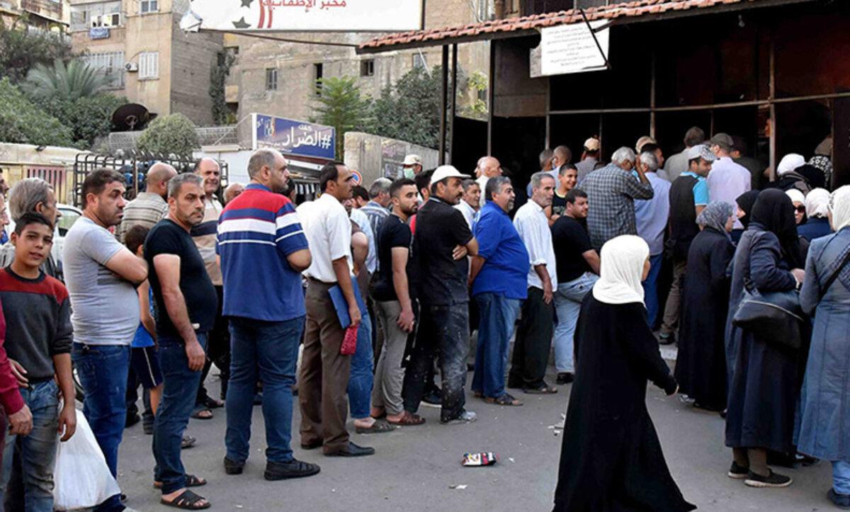 طوابير الخبز - دمشق