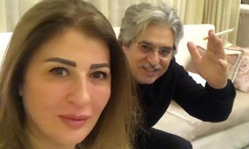 عباس النوري مع زوجته