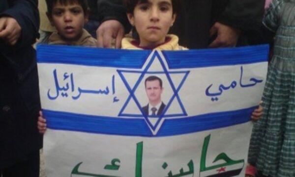 لافتة في إحدى لحظات الحراك الشعبي في سوريا