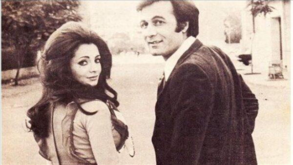 محمود ياسين مع شهيرة