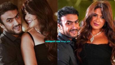 Photo of أحمد العوضي يداعب زوجته ياسمين عبد العزيز بأغرب طريقة (فيديو)
