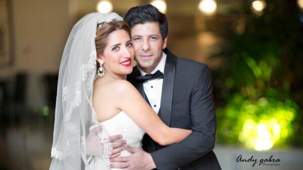 إياد نصار مع زوجته
