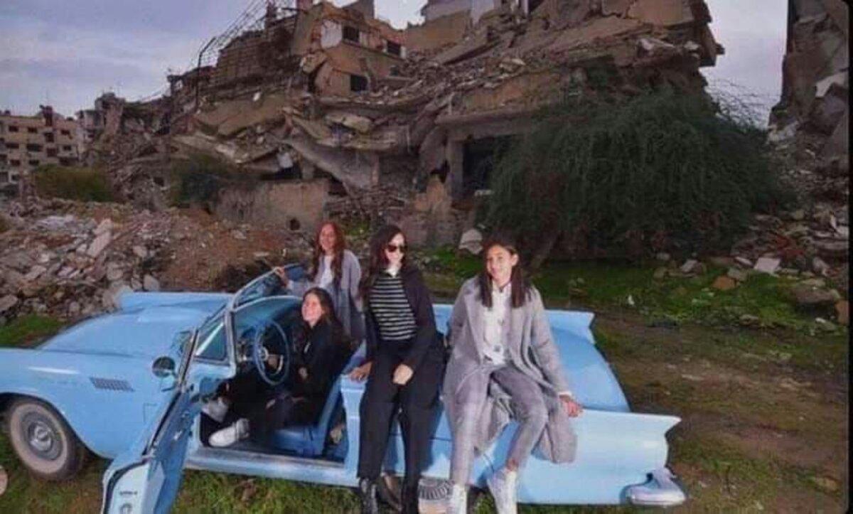 آية حمشو في الغوطة -مواقع التواصل