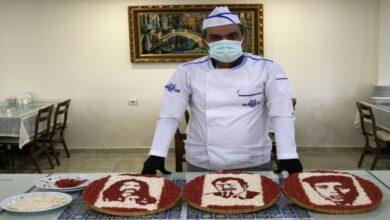 Photo of شيف تركي يرسم عمالقة الفن عن طريق اللحم والدهن (فيديو)
