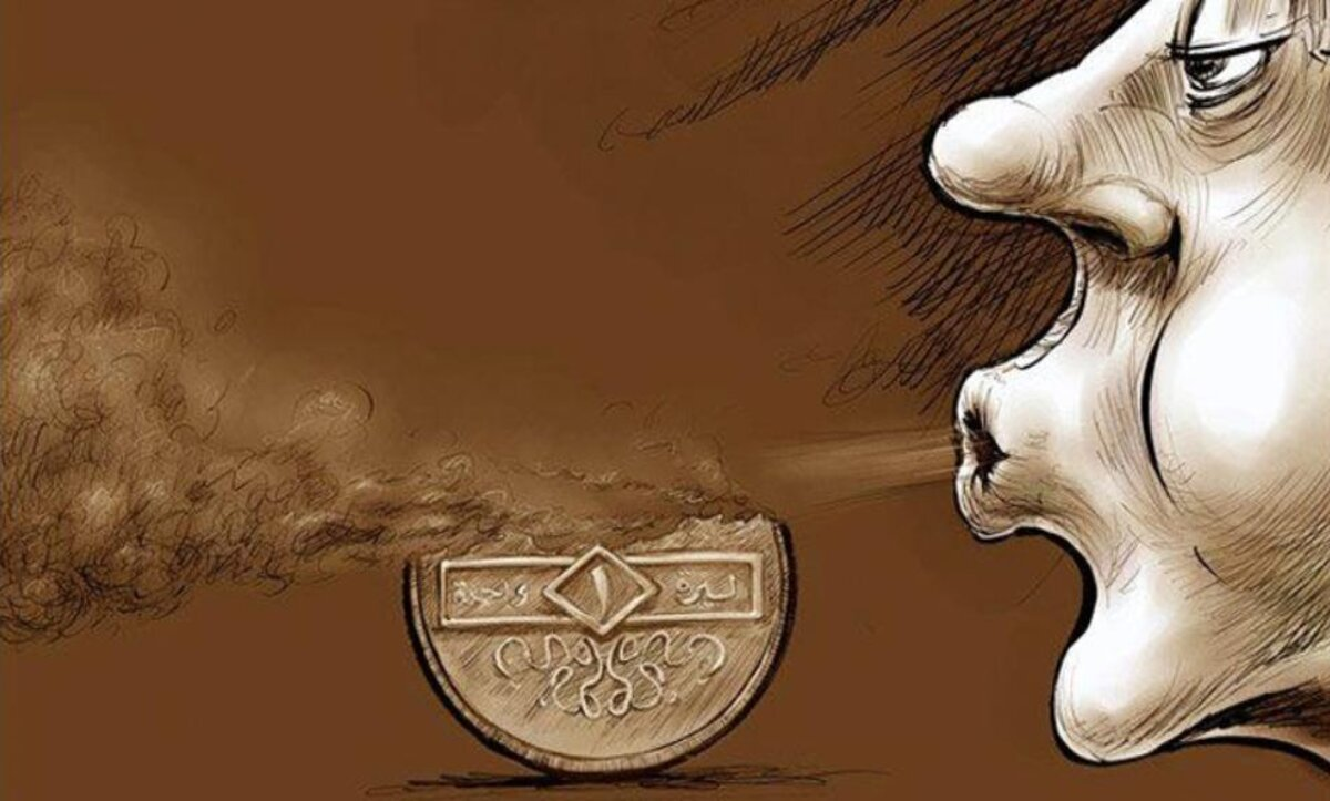 حال الليرة السورية - كاريكاتير