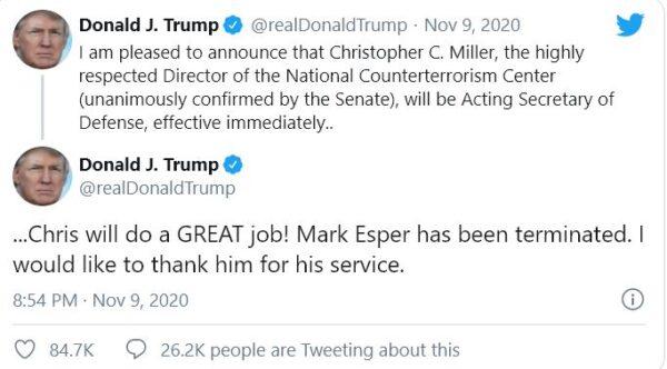 ترامب في تويتر - مواقع التواصل
