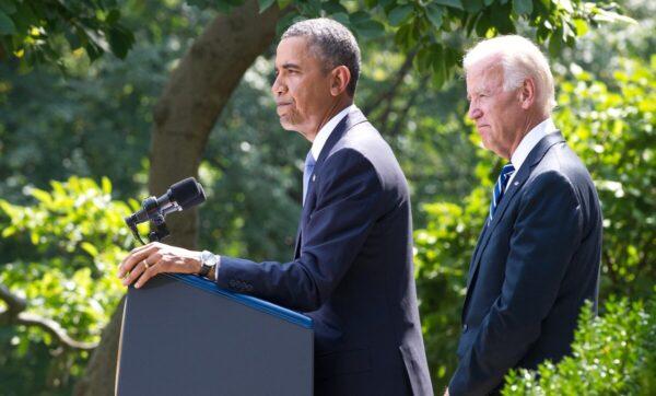 جو بايدن وباراك أوباما  موقع سعودي: جو بايدن يملك خياراً واحداً للحل في سوريا