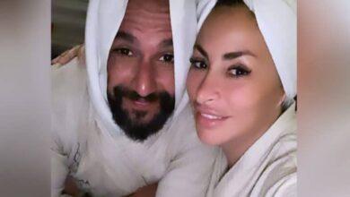 Photo of ديمة بياعة وزوجها في فيديو رومانسي وحديث جريء داخل الحمام