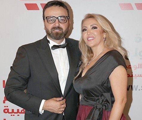 سامر المصري مع زوجته