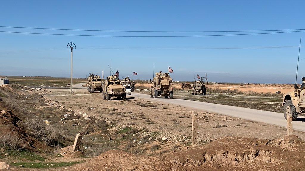 قرب نقطة أمريكية في سوريا