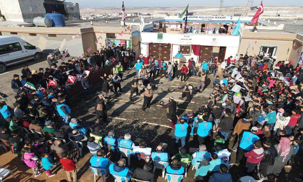 وقف الديانة التركي يفتتح مدرسة جديدة بإدلب السورية