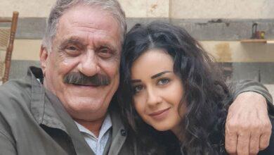 Photo of روعة السعدي مع الفنان عبد الهادي الصباغ من كواليس حارة القبة (صورة)