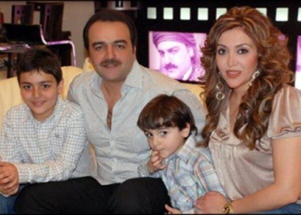 سامر المصري مع عائلته