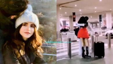 Photo of بفستانٍ أحمر قصير وقبلة.. هكذا استقبلت الناشطة السعودية فوز العتيبي زوجها بعد غياب 6 أشهرٍ (فيديو)